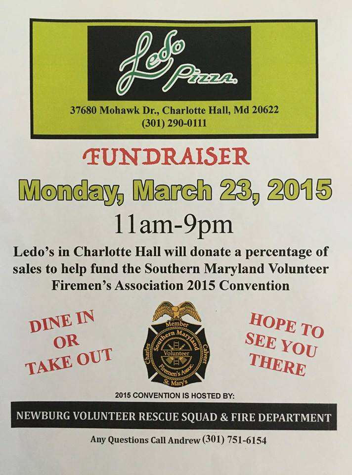Southern Maryland Volunteer Fireman's Association Fundraiser